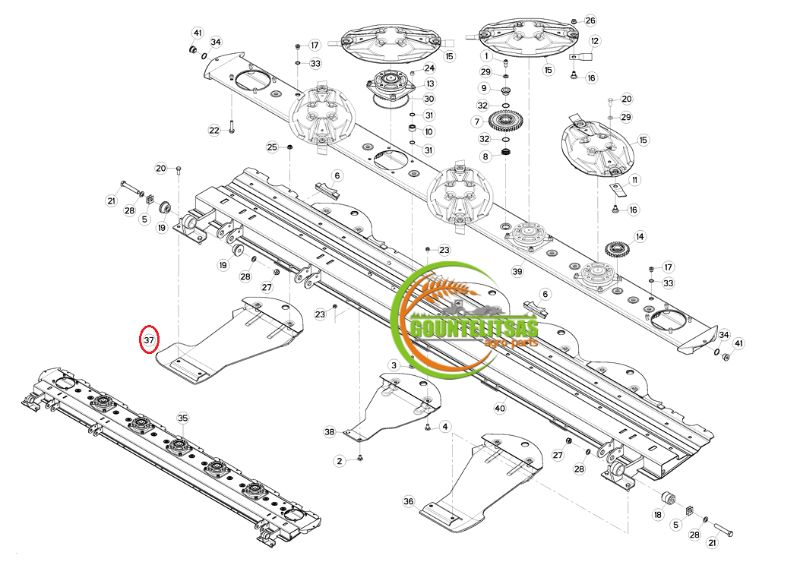 Στρώσει Kuhn τσαρούχι ακριανό αριστερό Κ5600080