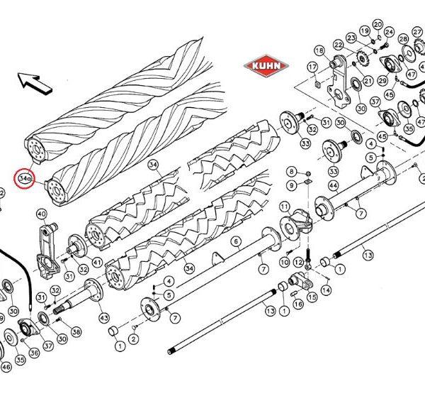 Antallaktika Kuhn Vicon Krone 56050000 56532700 Συνθλιπτικά λάστιχα για όλα τα μοντέλα
