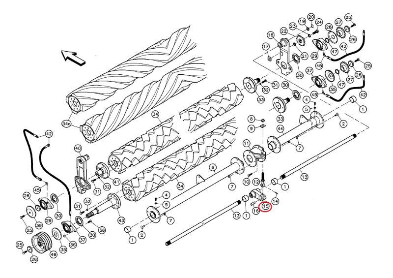 Antallaktika kuhn 56051210 Βάση μεσαία για ράβδο στρέψεως