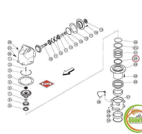Λάστιχο ειδικό Kuhn για μπροστινό γκρουπ 82049920