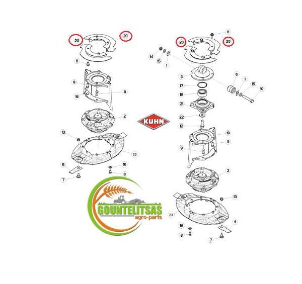 Antallaktika kuhn K5608260 - K5608270 λαμαρίνες διαιρούμενες