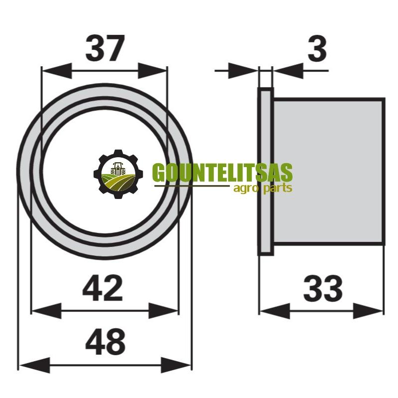 Δαχτυλιδι πλαστικο πιατου ανεμης Krone 9380680 (1)