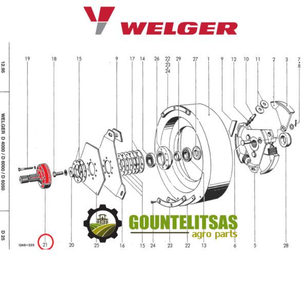 Κόμπλερ βολάν Welger D4000 1246.14.02.42